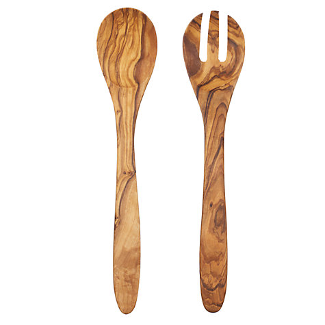 The Olive Oil Co Olive Wood Salad Fork & Spoon