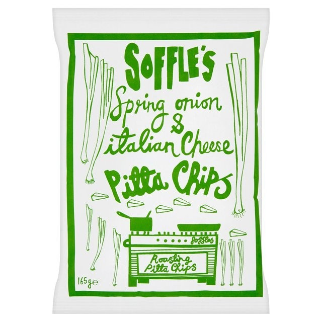 Soffles Pitta Chips Pitta Chips Cheese & Spring Onion 60g
