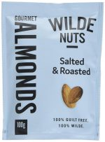 Wilde Nuts Roasted and Salted Almonds 100g