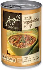 Amys Organic Vegetable Lentil Soup 400g