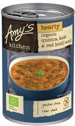 Amys Organic Hearty Quinoa Kale And Red Lentil Soup 408g