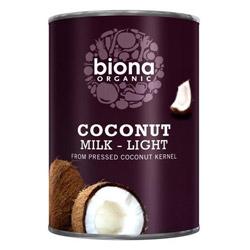 Biona Coconut Milk - Light 9% Fat Organic 400ml