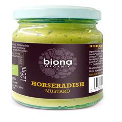 Biona Organic Horseradish Mustard 125g