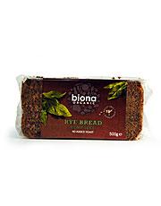 Biona Organic Wholemeal Rye Hemp Bread 500g