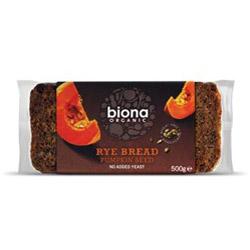 Biona Organic Rye Bread With Pumpkin 500g