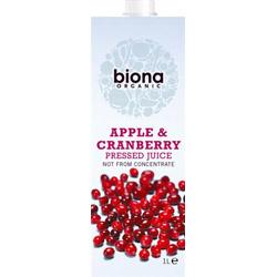 Biona Apple & Cranberry Juice Organic (12% Cranberry) 1000ml