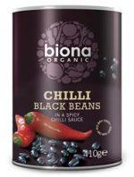 Biona Chilli Black Beans Organic 400g