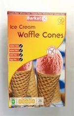 Barkat Waffle Ice Cream Cones Gluten Free 150g