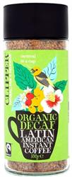 Clipper Fairtrade Organic Latin American Decaf Instant Coffee 100g