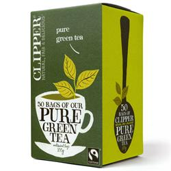 Clipper Fairtrade Pure Green Tea 50 Bags