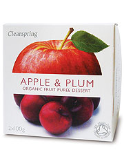 Clearspring Organic Fruit Puree Apple & Plum 2x100g