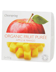 Clearspring Organic Fruit Puree Apple/Mango 2x100g