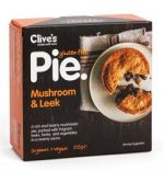 Clives Gluten Free Mushroom & Leek Pie 235g