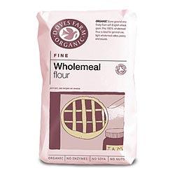 Doves Farm Organic Plain Fine Wholemeal Flour 1000g