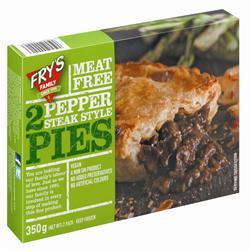 Frys Pepper Steak Style Pie 2 x 175g