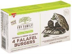 Frys Quinoa and Cilantro Falafel Burgers 260g
