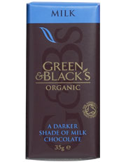 Green & Blacks Milk Chocolate Bar 35g
