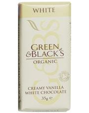 Green & Blacks White Chocolate Bar 35g