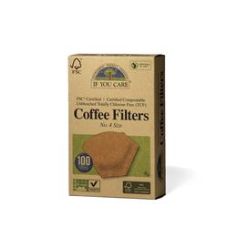 If You Care Coffee Filters No.4 Large Unbleached 100 Filters
