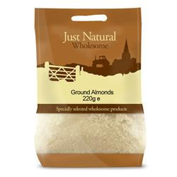 Just Natural Wholesome Ground Almonds 220g