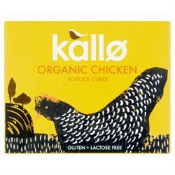 Kallo Organic Chicken Stock Cubes 66g