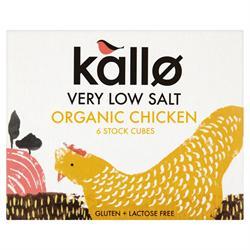 Kallo Organic Chicken Stock Cubes L Salt 51g