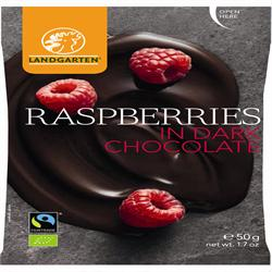 Landgarten Raspberries in Dark Chocolate 50g