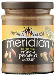 Meridian Organic Crunchy Peanut Butter 100% 280g