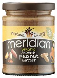 Meridian Organic Smooth Peanut Butter 100% 280g