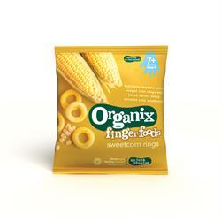 Organix Crunchy Sweetcorn Rings 20g