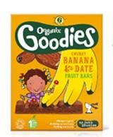 Organix Chunky Fruit Bars Date & Banana 6 x 17g