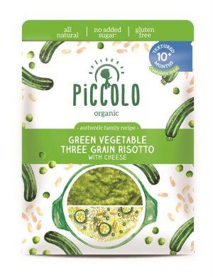 Piccolo Organic Green Veg 3 Grain Riso 180g