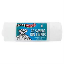 Safewrap Swing Bin Liners 20 Bags