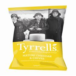 Tyrrells Cheese & Chive Crisps 150g