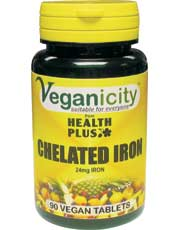 Veganicity Chelated Iron 24mg 90 tablet