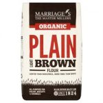 W H Marriage Organic Light Brown Plain 1000g