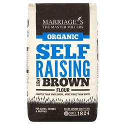 W H Marriage Organic Light Brown Self Raising Flour 1000g