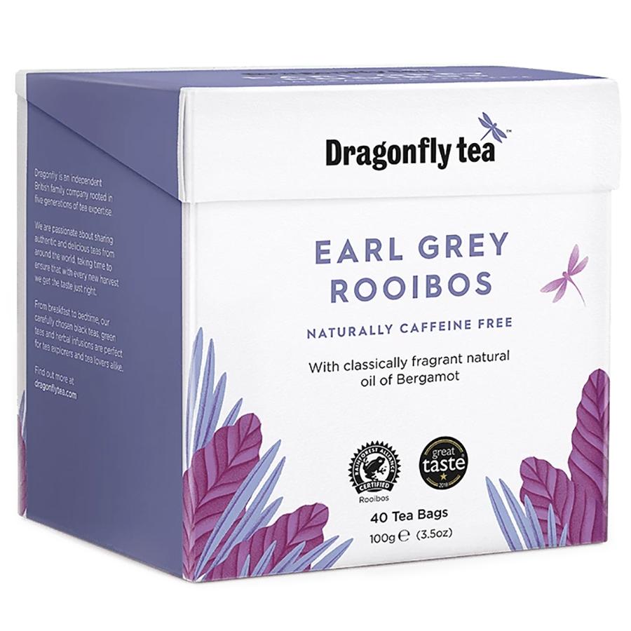 Dragonfly Tea Organic Earl Grey Rooibos Tea 40 bags