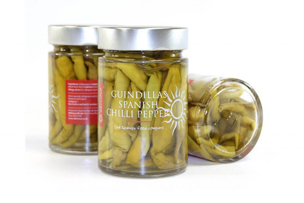 Delicioso Guindillas Pickled Green Chillies 285g