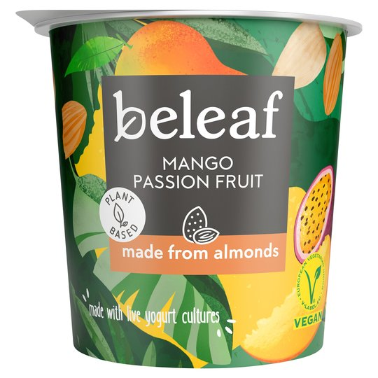 Beleaf Mango Passion Fruit Almond Yogurt 350g